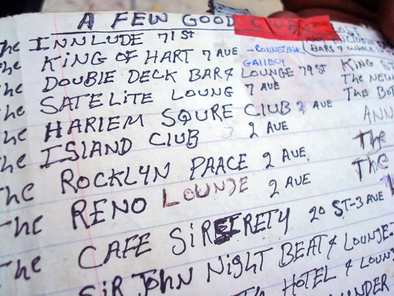 """""""A Few Good Clubs"""" - Page from the Shantel Lounge book of Miami History - photo Jake Katel"""