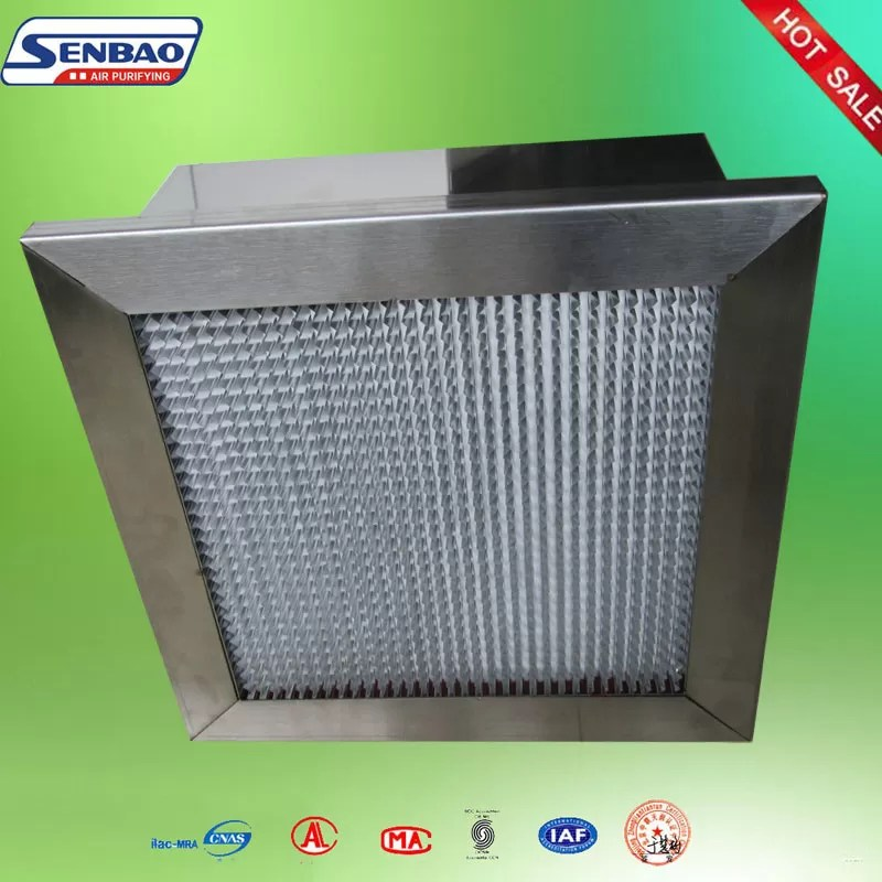 H13 Deep Pleat Hepa Air Filter For Clean Room And Hvac System