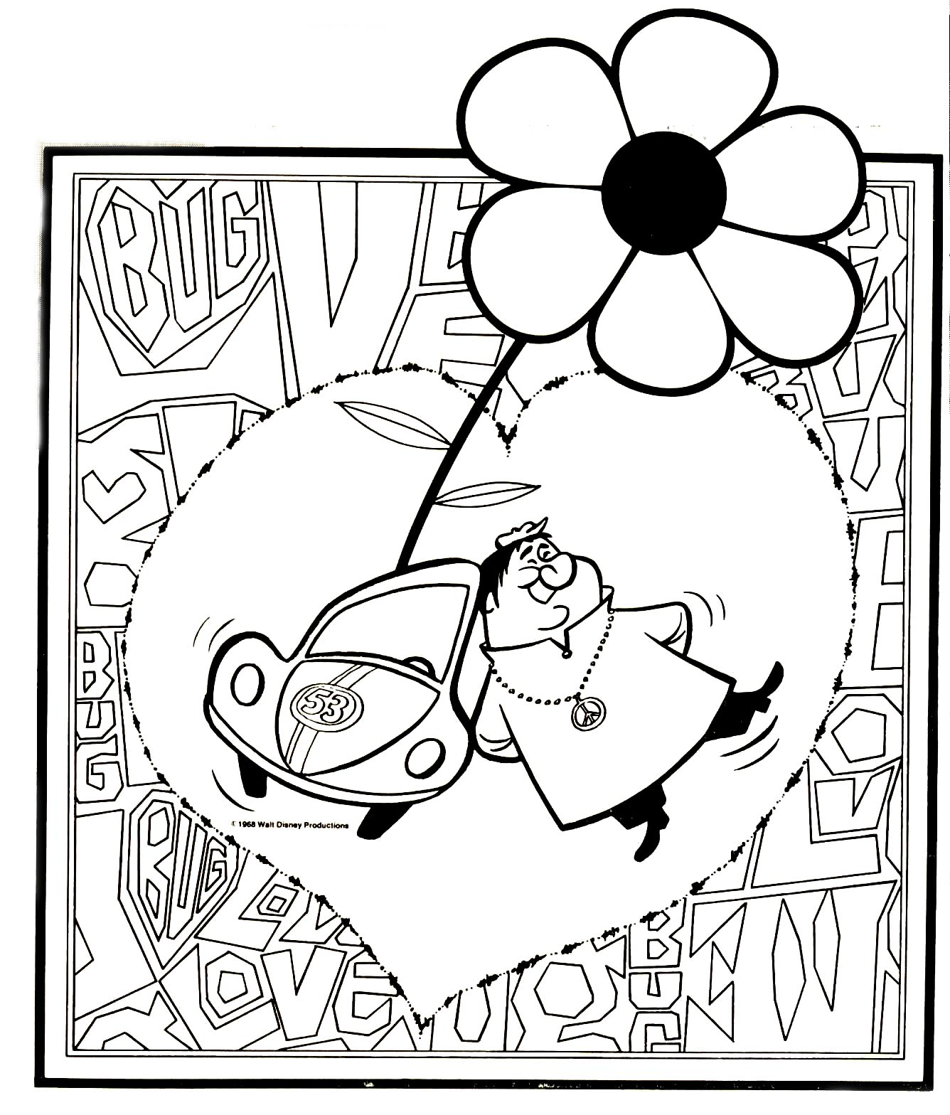 Herbie Fully Loaded Coloring Page Coloring Pages Auto Electrical
