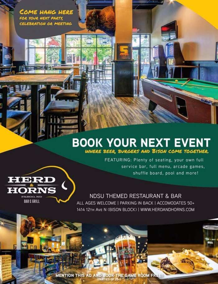 Private Party Room Herd and Horns Bar and Grill