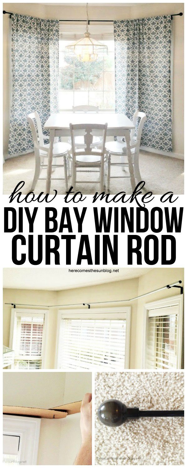DIY Bay Window Curtain Rod for Less than $10