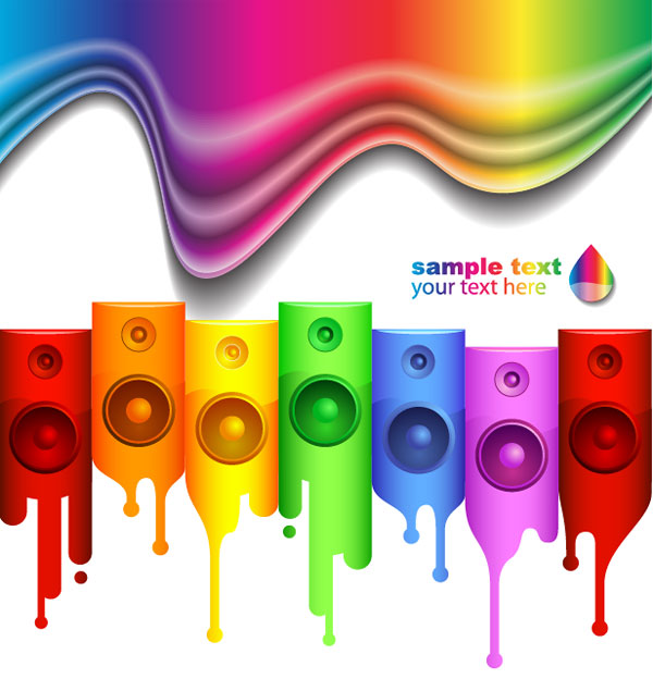 3d Cartoon Wallpaper Palabras Clave Altavoces Ipod Colorido Estilo Musical De