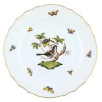 Herend Rothschild Bird Dinner Plate Motif #1 at Herendstore