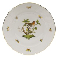 Herend Rothschild Bird Dinner Plate Motif #3 at Herendstore