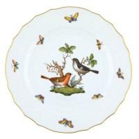 Herend Rothschild Bird Dinner Plate Motif #5 at Herendstore