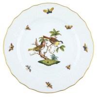 Herend Rothschild Bird Dinner Plate Motif #11 at Herendstore