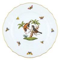 Herend Rothschild Bird Dinner Plate Motif #12 at Herendstore