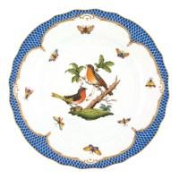 Herend Rothschild Bird Blue Dinner Plate Motif #8 at ...