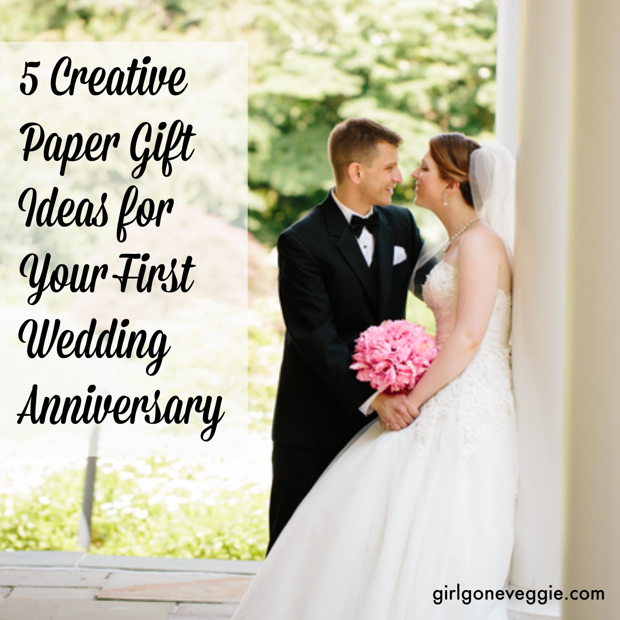 5 creative paper gift ideas first wedding anniversary 1st wedding anniversary gift 5 creative paper gift ideas for your first wedding anniversary Girl Gone Veggie Erin Fairchild