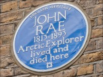 English Heritage blue plaque for Arctic explorer John Rae. Pic English Heritage