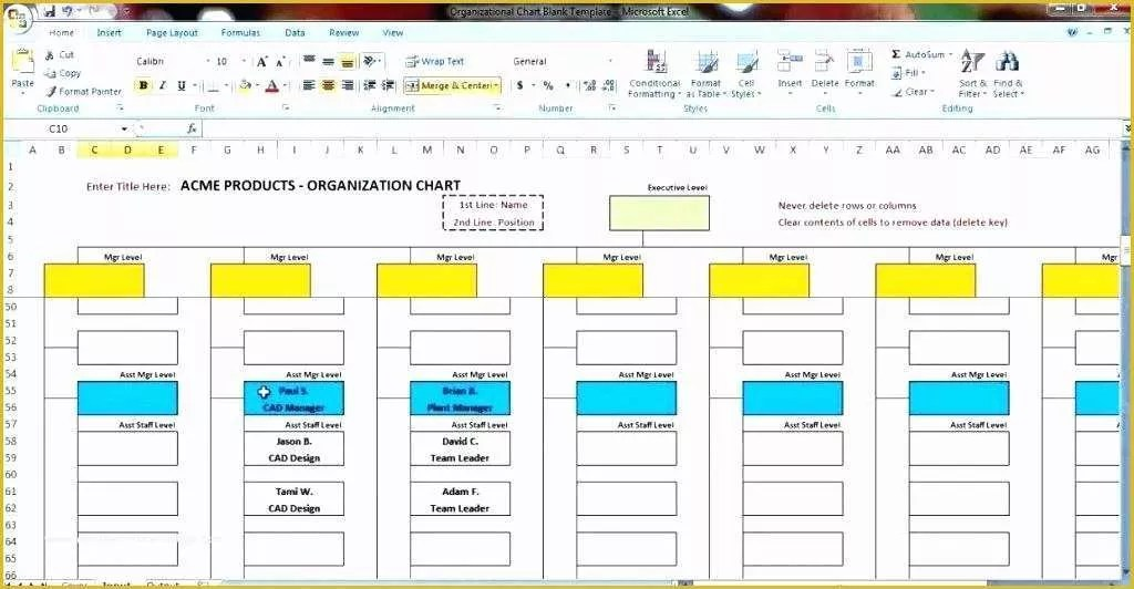 40 organizational Chart Template Free Download Excel