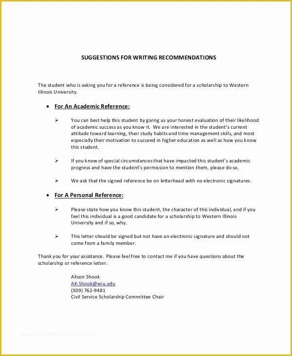 51 Personal Reference Letter Template Free Heritagechristiancollege