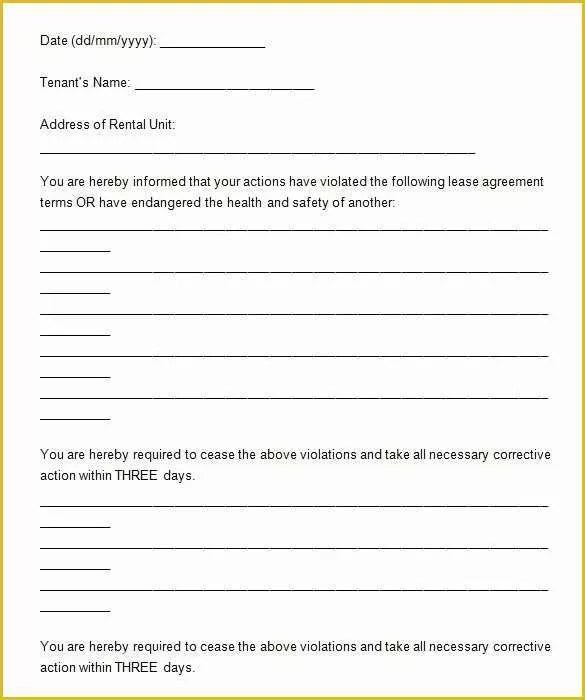 Free Eviction Notice Template Of Eviction Letter Template