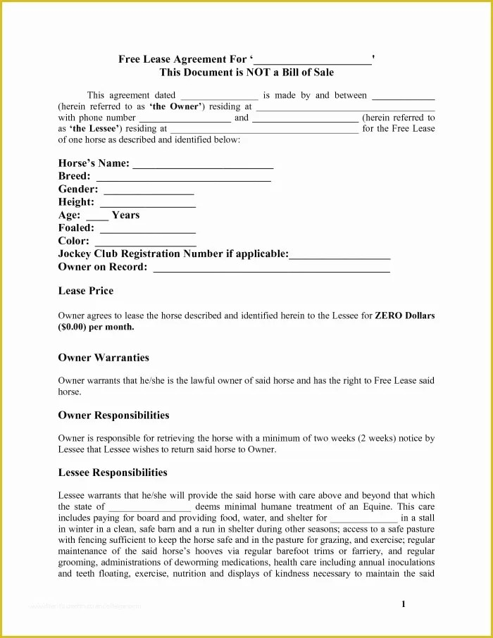 Free Lease Template Of 38 Editable Blank Rental and Lease Agreements