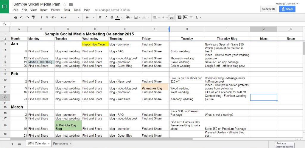 social media planning calendar - Funfpandroid