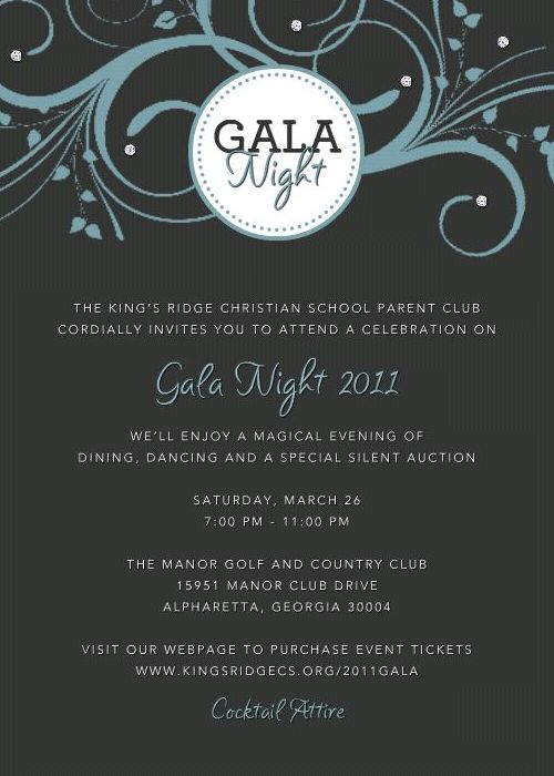 Gala Night Invitation