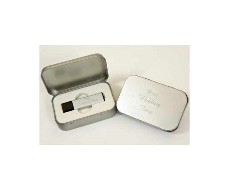 Personalised Usb Drive And Metal Presentation Case