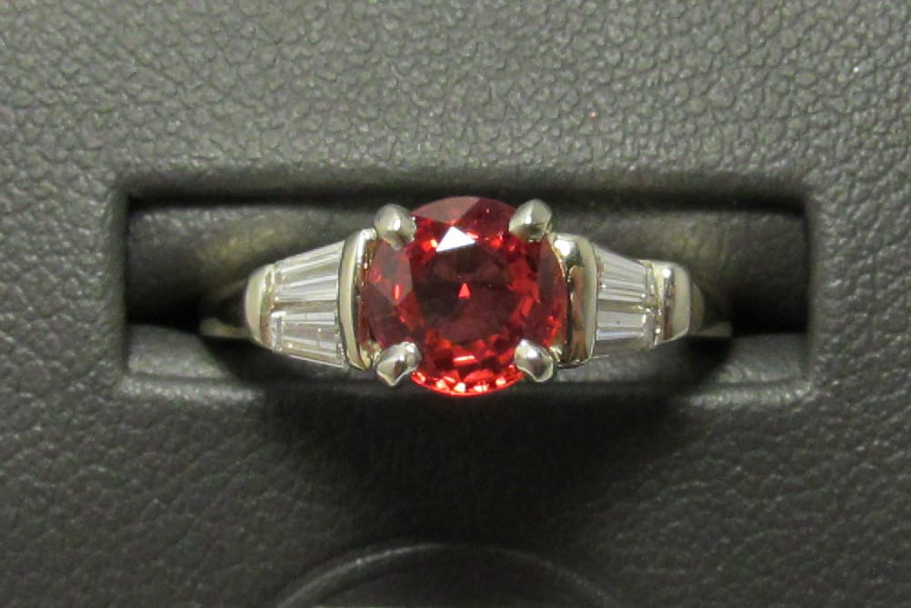 Gorgeous 14k Gold Ruby and Diamond Ring from Herkner Estate Jewelry