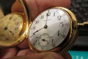 Waltham Model 1891 Seaside Pocket Watch in 14k Gold case