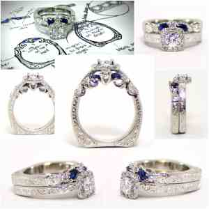 Custom Ring with Platinum and Diamond