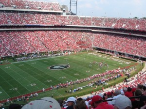 Notre Dame could be playing between the hedges at Sanford Stadium later this decade (Photo credit: Wikipedia)