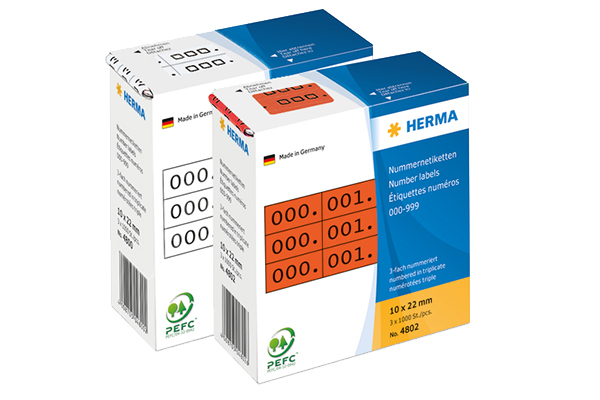 Letter stickers and number stickers online from HERMA
