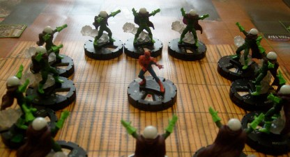 This will never, ever occur in an actual game of HeroClix