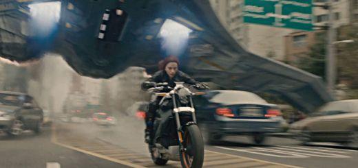 Black Widow Motorcycle Header