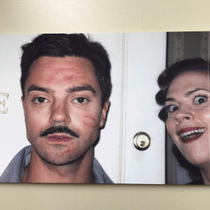 Hayley Atwell can't help herself around Dominic Cooper