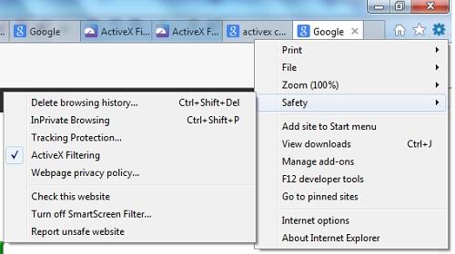 ActiveX Filtering - Controlling ActiveX Controls