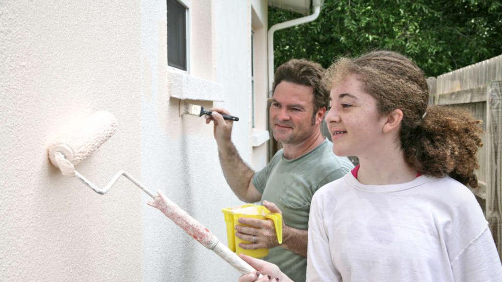 Fassade streichen u2013 Tipps für Heimwerker Hessen - fassade streichen
