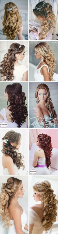 Wedding Hairstyles For Long Curly Hair Down - HairStyles