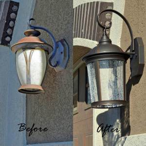 how to replace a light fixture outdoor tutorial her tool belt