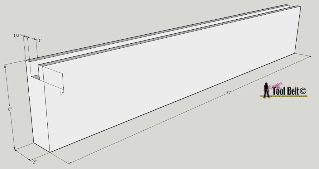 barnwood bed footboard rail