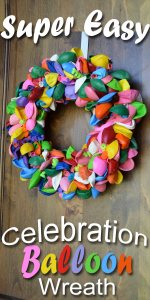 Super easy celebration balloon wreath tutorial