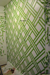 Geometric Wall - Taping it Modern - Her Tool Belt