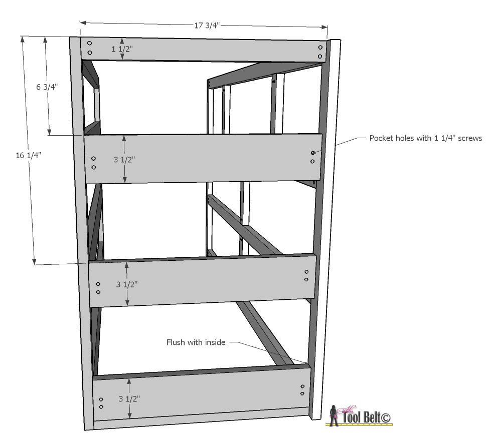 7 drawer dresser-side dimensions