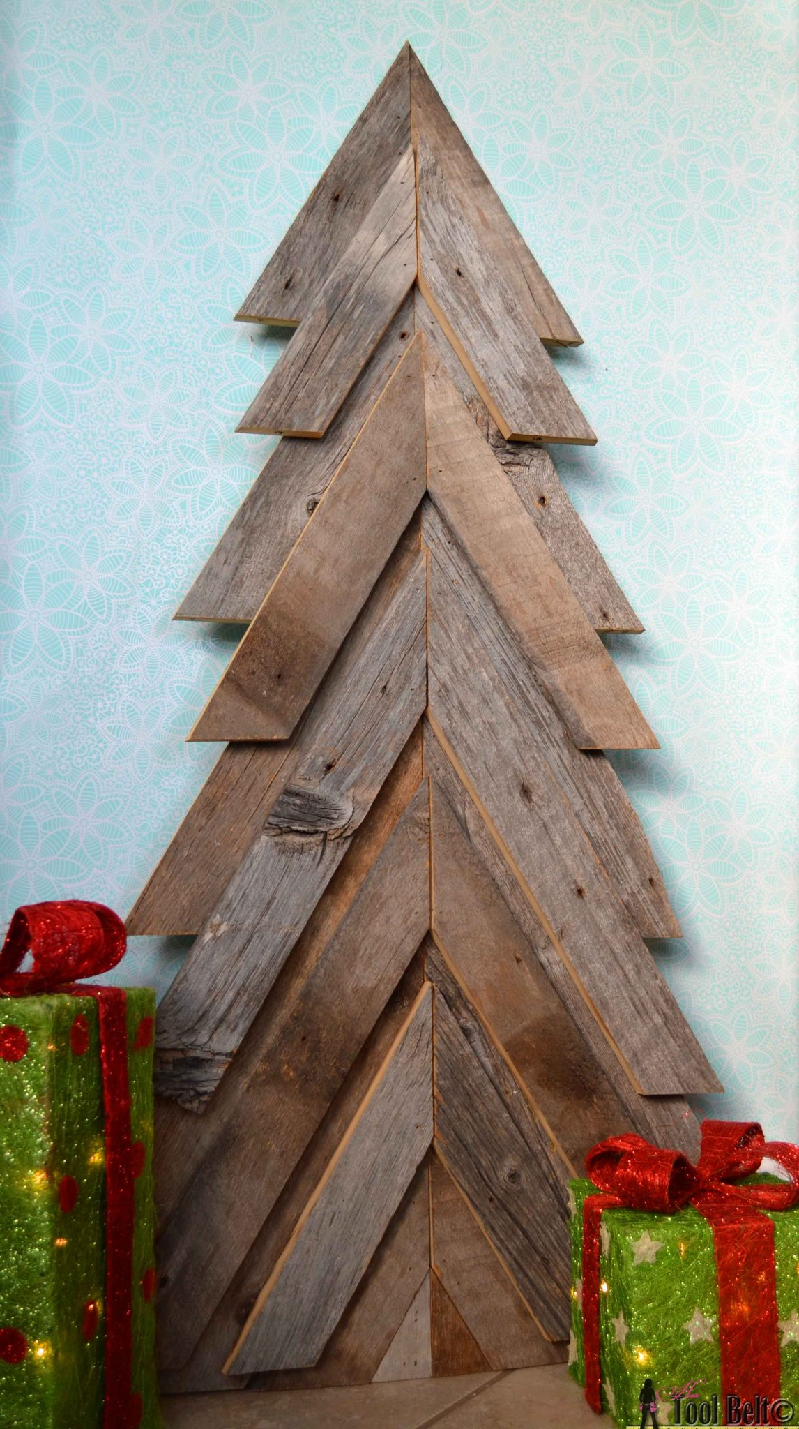 Wood From Trees ~ Rustic christmas tree her tool belt