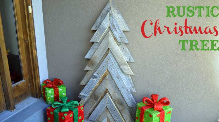 rustic christmas tree feature