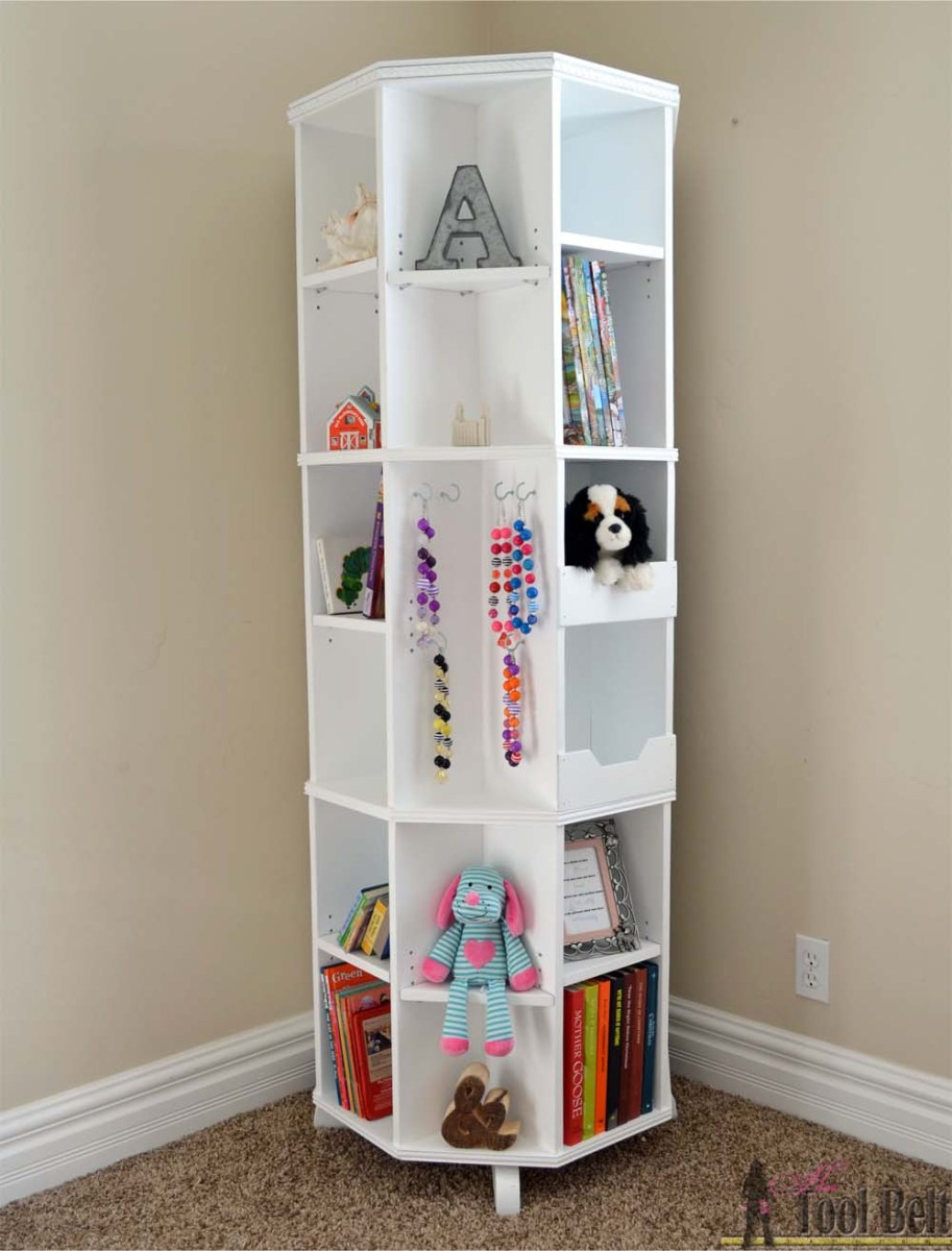 Octagon Rotating Bookshelf + Giveaway