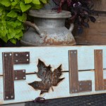 Wooden Fall Sign feature