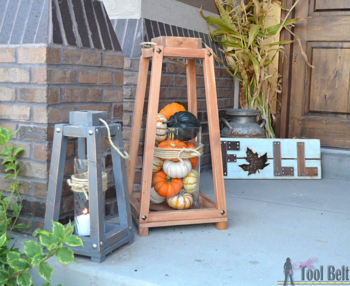 Rustic Wood Lanterns + Giveaway