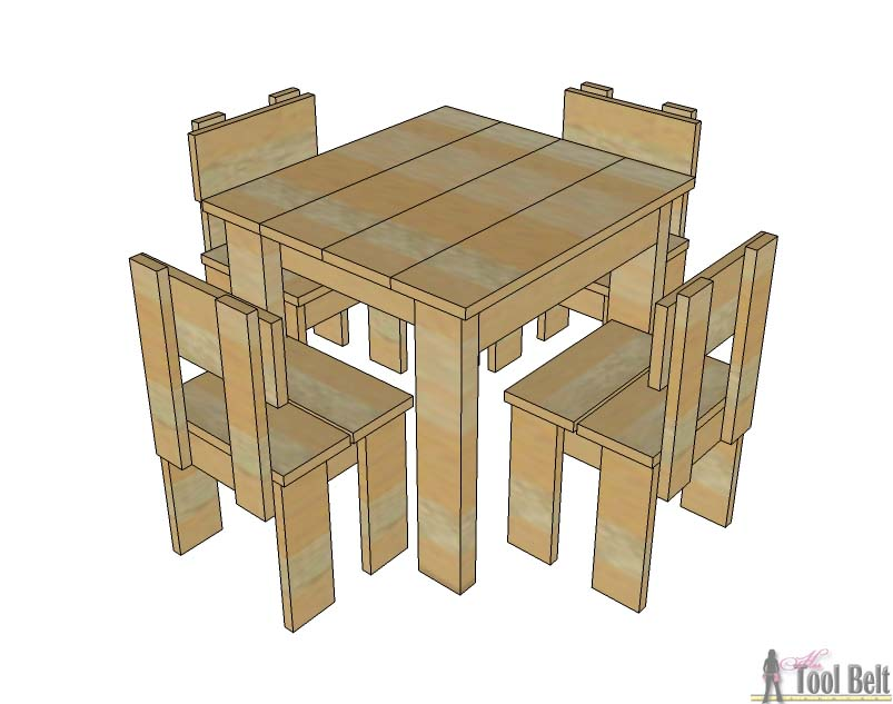Simple Kid39s Table And Chair Set Her Tool Belt