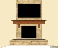 DIY Fireplace Mantel Shelf - Her Tool Belt