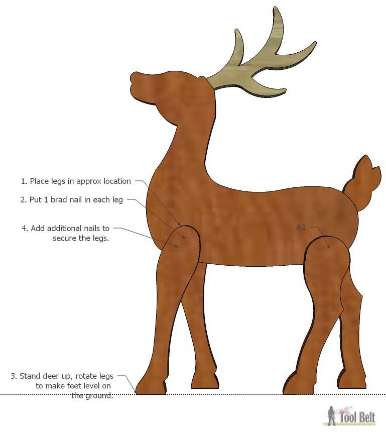 DIY Wood Reindeer - Her Tool Belt