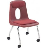 """Poly Shell Classroom Chair - Casters, Padded 18""""H, Teacher ..."""