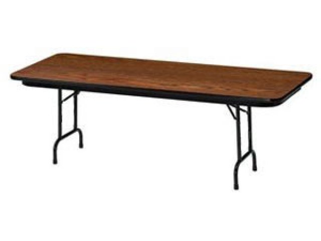 Laminate Rectangular Folding Table Adj Height 96x30