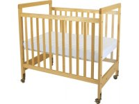 SafetyCraft Compact Fixed-Side Clearview Crib w/Mattress ...