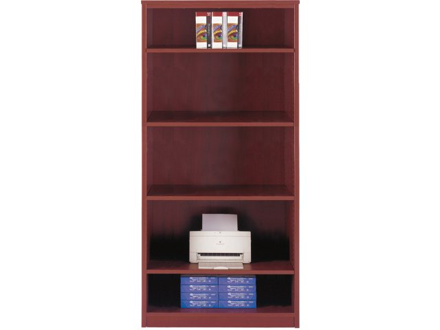 Hyperwork Four Shelf Bookcase 36quotwx65quoth Office Bookcases