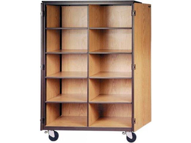 Cubby Storage Cabinet 10 Adj Shelves Locking Doors 72quoth
